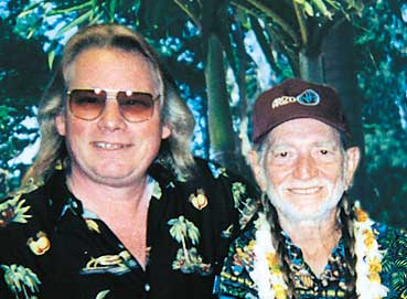 Merrell and Willie Nelson Backstage at the Maui Cultural Center, July, 2000
